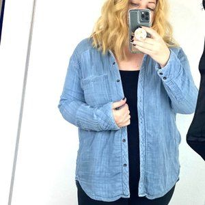 Free People chambray button up shirt long sleeve